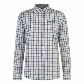 SoulCal Long Sleeve Check Shirt Mens - Sky/Navy/Cream