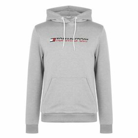 Tommy Sport Fleece Logo Hoodie - Grey Heather