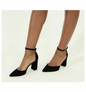 Office Minnie- Ankle Strap Court BLACK SUEDE