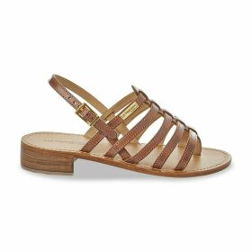 Herita Toe-Post Leather Sandals