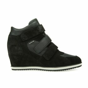 D Illusion D Wedge Leather Trainers