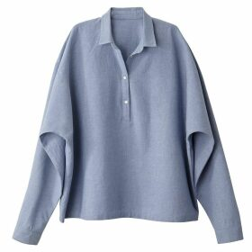 Batwing Sleeve Cotton Blouse