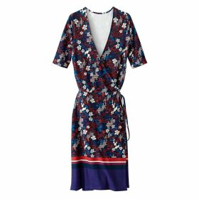 Floral Print Wrapover Dress