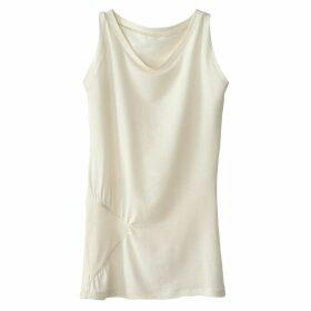 Plain Sleeveless Crew Neck T-Shirt