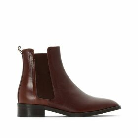 Domicio Leather Chelsea Ankle Boots