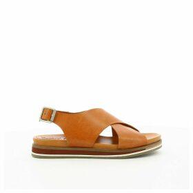 Océanie Leather Flat Sandals