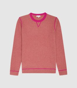 Reiss Allandale - Wool Blend Fluoro Jumper in Pink, Mens, Size XXL