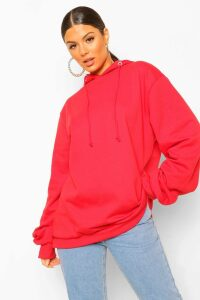 Womens Extreme Oversized Hoodie - Red - 12, Red