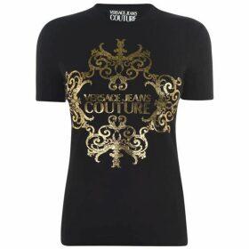 Versace Jeans Couture Baroque Logo T Shirt