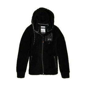 Urban Storm Zip-Up Hoodie in Teddy Faux Fur with Pockets
