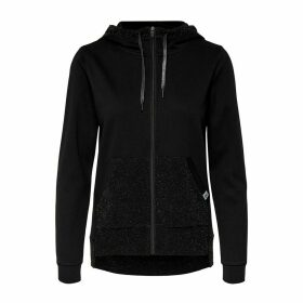 Zip-Up Hoodie with Sequined Pocket