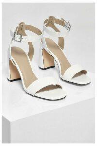 Womens Interest Block 2 Part Heels - White - 8, White