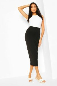 Womens Core Basic Jersey Midaxi Skirt - Black - 16, Black