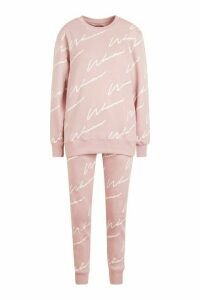 Womens Woman Signature Jumper Tracksuit - Pink - 6, Pink