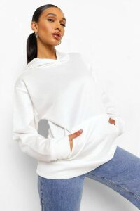 Womens Basic Oversized Hoodie - White - 16, White