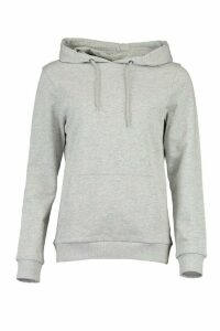 Womens Kangaroo Pocket Hoodie - Grey - 8, Grey