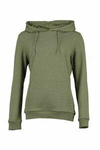 Womens Kangaroo Pocket Hoodie - Green - 16, Green