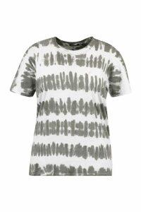 Womens Plus Stripe Acid Wash T-Shirt - Black - 20-22, Black