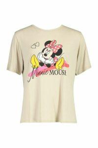 Womens Disney Minnie T Shirt - Beige - 16, Beige