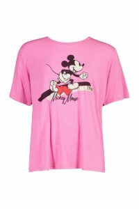 Womens Disney Mickey T Shirt - Pink - 12, Pink
