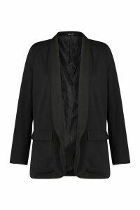Womens Plus Skinny Lapel Blazer - Black - 20, Black