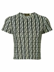 Fendi Pre-Owned monogram T-shirt - Blue