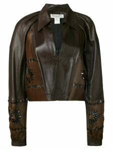 Christian Dior pre-owned cut-out flower jacket - Brown