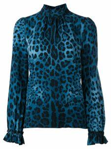 Dolce & Gabbana Pre-Owned leopard print blouse - Blue