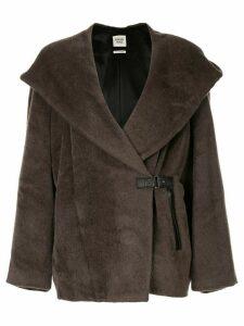 Hermès 1997-2003 pre-owned Long Sleeve Coat Jacket - Brown