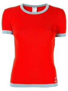 Chanel Pre-Owned CC Short Sleeve Tops - Red
