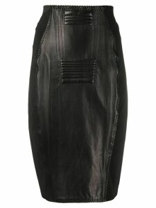 Jean Paul Gaultier Pre-Owned 1987 leather pencil skirt - Black
