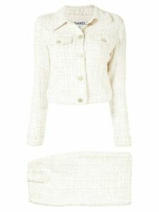 Chanel Pre-Owned 2001s long sleeve set-up suit jacket shirt - White