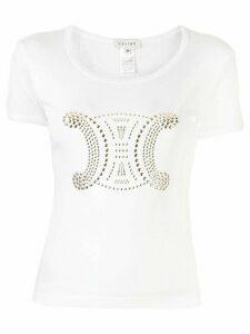 Céline Pre-Owned embossed monogram T-shirt - White