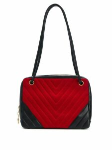 Chanel Pre-Owned Chevron stitch shoulder bag - Red