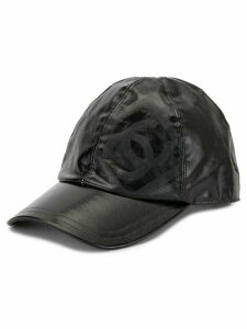 Chanel Pre-Owned CC logo sport line cap - Black