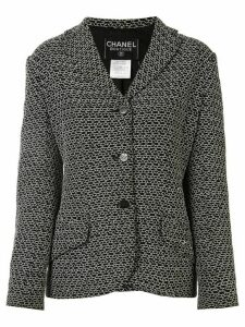 Chanel Pre-Owned 1998s CC long sleeve single-breasted jacket - Black