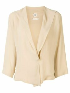 Hermès deep V-neck blouse - NEUTRALS