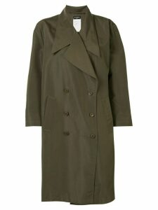 Chanel Pre-Owned 1998s long sleeve trench coat - Green