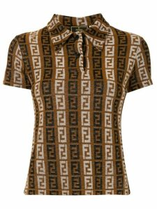 Fendi Pre-Owned logos short sleeve tops shirt - Brown