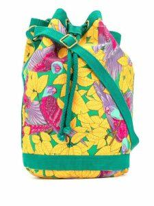 Hermès 1990s parrot print tote bag - Yellow