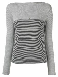 Chanel Pre-Owned 1997s CC border long sleeve tops - Black