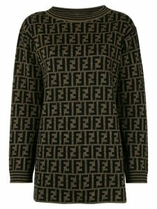 Fendi Pre-Owned round neck long sleeve knit tops - Brown