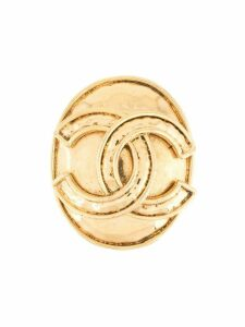 Chanel Pre-Owned 1994 CC logo brooch - GOLD