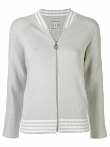 Chanel Pre-Owned sports line zip-up long sleeve jacket - Grey