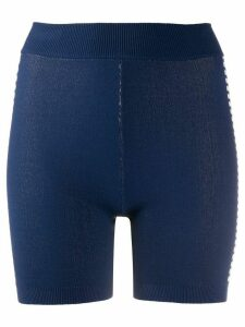 Nagnata Bodhi technical-knit shorts - Blue
