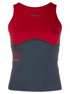 Off-White two-toned performance tank top - Red