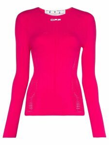 Off-White active seamless long sleeve top - PINK
