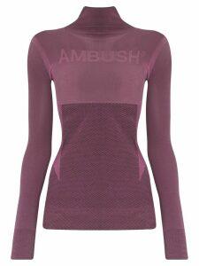 AMBUSH turtleneck knit performance top - PINK