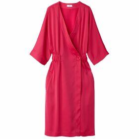 Satin Look Kimono Dress