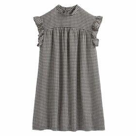 Ruffled Gingham Babydoll Dress